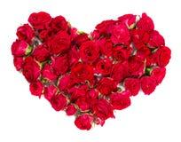 Bouquet des roses disposées pour former un élément de coeur ou de conception pour des thèmes floraux Image libre de droits