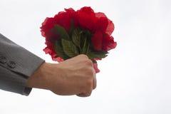 Bouquet des roses en plastique Images stock