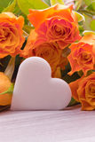 Bouquet des roses jaunes Photographie stock libre de droits
