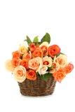 Bouquet des roses oranges Photo stock