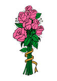 Bouquet des roses roses illustration stock