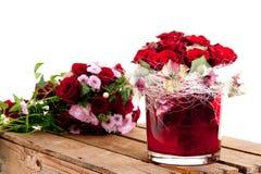 Bouquet des roses rouges Images stock