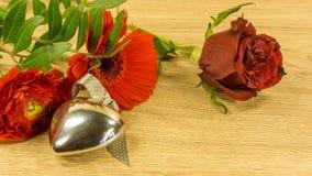 Bouquet des roses rouges Photo stock