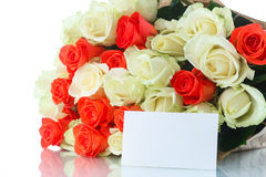 Bouquet des roses rouges et jaunes Photographie stock