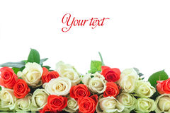 Bouquet des roses rouges et jaunes Photographie stock libre de droits