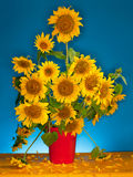 Bouquet des tournesols Images stock