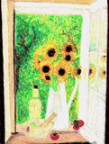 Bouquet des tournesols. Photos libres de droits