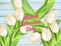 Bouquet des tulipes blanches ENV 10 Photos libres de droits