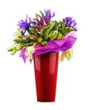 Bouquet des tulipes, de l'iris, du Veronica et d'autres fleurs image stock
