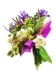 Bouquet des tulipes, de l'iris, du Veronica et d'autres fleurs photos libres de droits