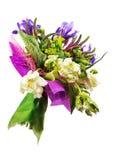 Bouquet des tulipes, de l'iris, du Veronica et d'autres fleurs photo libre de droits