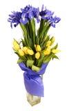 Bouquet des tulipes et des iris Photo libre de droits