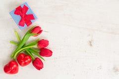 Bouquet des tulipes jaunes, pourpres et rouges Photos libres de droits