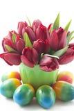 Bouquet des tulipes rouges Image libre de droits