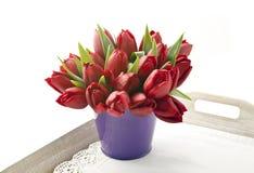 Bouquet des tulipes rouges Photo stock