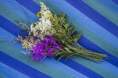 Bouquet des wildflowers sauvages sur un hamac Photographie stock