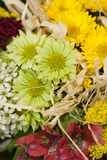 The bouquet in detail. The detail of bunch made of various flowers Stock Photos