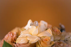 Bouquet and diamonds Stock Photos