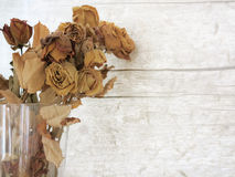 Bouquet of dried rose flowers Royalty Free Stock Photos