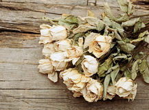 Bouquet dried roses Royalty Free Stock Photos