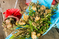 Bouquet of dried roses Stock Photography