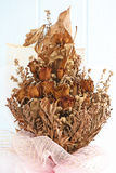 Bouquet of dried withered roses Stock Photos