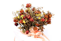 Bouquet of dried withered roses Stock Photo