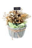 Bouquet of dry flower with happy birth day label Stock Images
