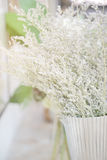 Bouquet of dry flower in restaurant. Background royalty free stock photos