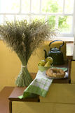 Bouquet of dry grass as a decoration of house Royalty Free Stock Image