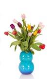 Bouquet Easter tulips vase Stock Photo