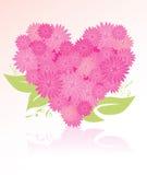 Bouquet en forme de coeur de fleur Photos stock