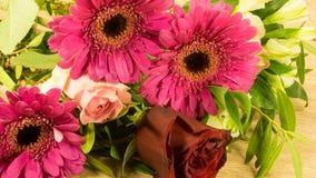 Bouquet en rouge Photographie stock libre de droits
