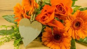 Bouquet en rouge Photographie stock