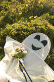 Bouquet et cerf-volant de mariage Images libres de droits