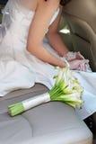 Bouquet et mariée de mariage Images libres de droits