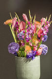 Bouquet with exotic flowers. Summer bouquet with exotic flowers stock photo