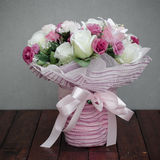 Bouquet of fabric flower Royalty Free Stock Photo