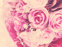 Bouquet of fabric rose flower Stock Image