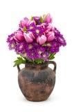 Bouquet fait de tulipes et fleurs de chrysanthème Images libres de droits