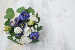 Bouquet fait main de broche/bouquet mariage de tissu/fleur en soie s Image libre de droits