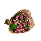 Bouquet fané des fleurs d'isolement sur le fond blanc Image libre de droits