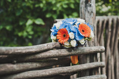 Bouquet on a fence Stock Photos