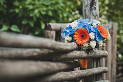 Bouquet on a fence 1330. Stock Images