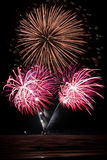 Bouquet of fireworks Royalty Free Stock Photo