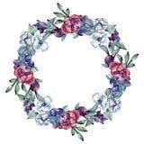 Bouquet floral flower. Watercolor background illustration set. Watercolour drawing. Frame border ornament square. Bouquet floral botanical flower. Wild spring vector illustration