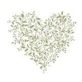 Bouquet floral d'amour pour votre conception, forme de coeur Image stock