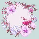 Bouquet floral de ressort doux avec des oiseaux Photos stock