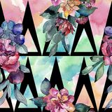 Bouquet floral flower. Watercolor illustration. Watercolour seamless background pattern. Fabric wallpaper print texture. Bouquet floral botanical flower royalty free illustration