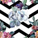 Bouquet floral flower. Watercolor illustration. Watercolour seamless background pattern. Fabric wallpaper print texture. Bouquet floral botanical flower vector illustration